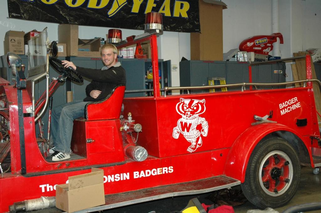 Adam Richards in Bucky Wagon