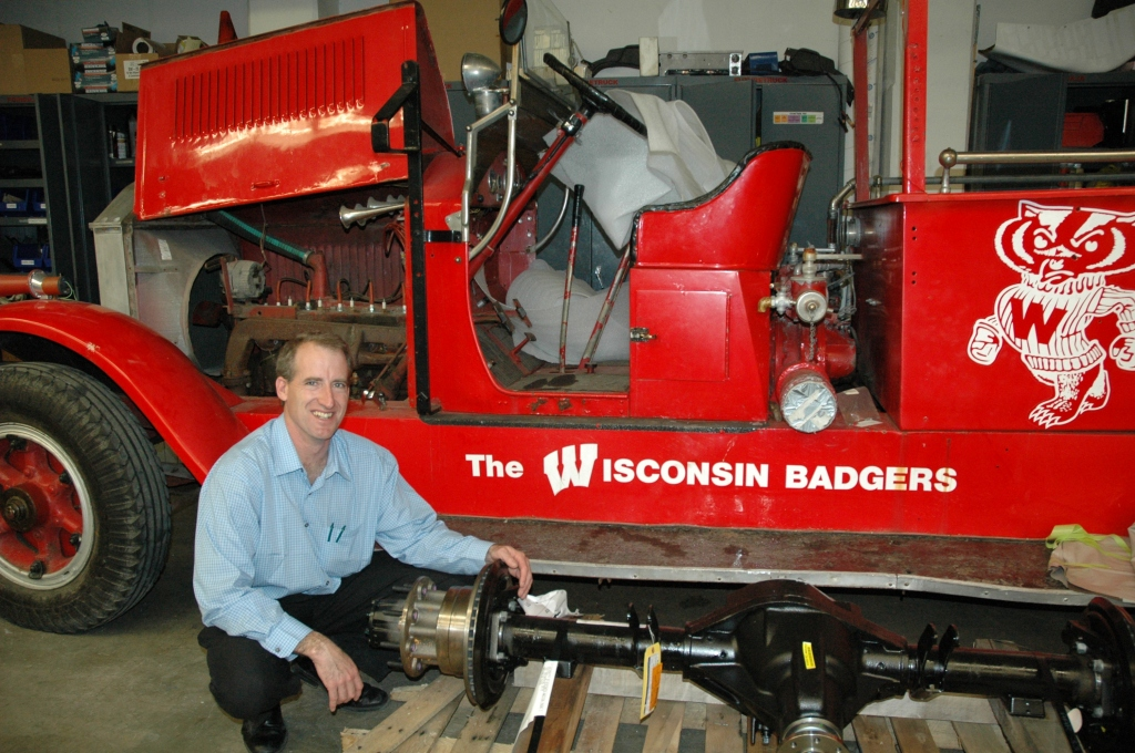Glenn Bower and the Bucky Wagon